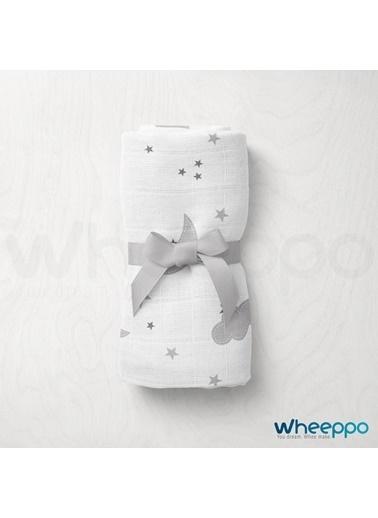 Wheeppo Gri Bulut  Müslin Örtü  120*120 Cm Renkli